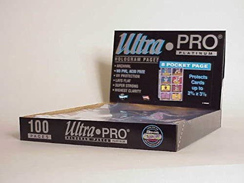 Ultra Pro 8-Pocket Platinum Page with 3-1 2 X 2-3 4 Pockets 100 ct. by Ultra Pro