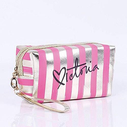 Sacs à cosmétiques Mode Cuir Femmes Make Up Bag PVC Pouch Wash Organisateur de Voyage Case 18.5 * 7.5 * 10.5cm-Rose_Red_18.5 * 7.5 * 10.5cm