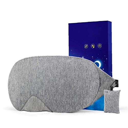 Canjerusof Cotton Eye Sleeping Blindfold Weiche Augen Beschattung verstellbaren Riemen Augenpad für Reisen Schlaf