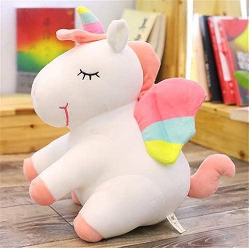 online al mejor precio GMADD Unicorn Unicorn Unicorn Plush Toy Doll Birthday Gift Girl Angel Small Pegasus Doll Pillow blanco 75Cm  primera vez respuesta