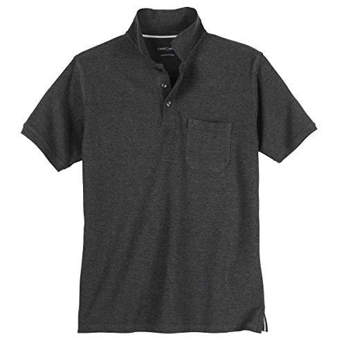 Casa Moda Piqué Poloshirt in dunkelgrau Übergröße, XL Größe:5XL
