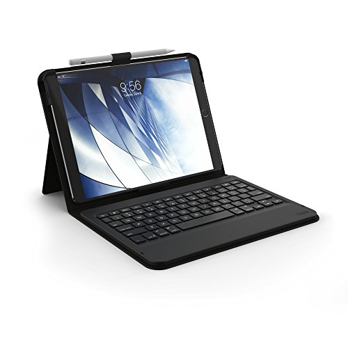 """ZAGG Messenger Folio Case and Non-Backlit Bluetooth Keyboard for Apple iPad 10.5"""" and 2019 iPad Pro 10.5"""" - Black (ID9BSF-BB0)"""
