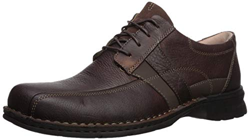 Clarks Men's Espace Oxford, brown oily leather, 120 M US