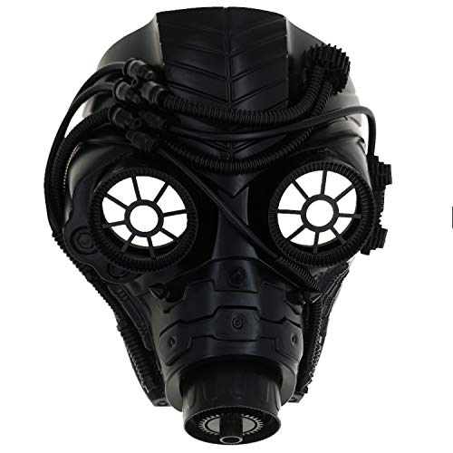Ubauta Steam Punk Phantom der Oper Vintage mechanische Männer venezianische Maske für Maskerade / Party / Ball Prom / Halloween / Karneval (Black Punk Gas Mask)