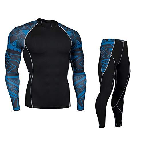 IRON JIA'S Conjunto de Ropa Interior térmica para Hombre, Deporte, Trajes de compresión de Invierno para Moto, esquí, Correr, Deportes, al Aire Libre