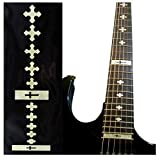 Fretboard Markers Inlay Stickers Decals for Guitars & Bass - Cross - White Pearl