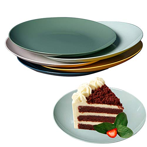 Cupcake Plates Dessert Plates Fruit Plates Salad Plates 10-Piece Mixed Color 5.7 Inch for Christmas Birthday Wedding Afternoon Tea Party