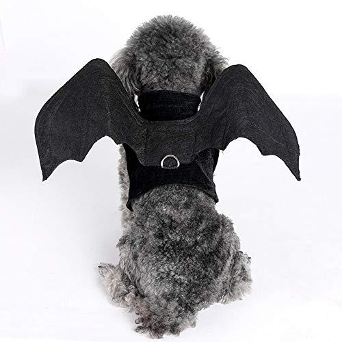 KAILLEET Jeden Tag Kein Pull Schwarz Bat Hundegeschirr mit Front-Clip, Trail Running, Walking, Wandern, All-Day Wear No More Ziehen, Zerren