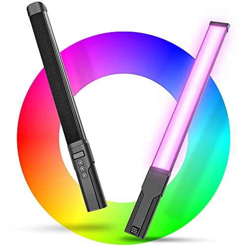 Handheld Photography Light Wand, RGB Led Light Stick/Bi-Color 360 Full Color Ice lamp,Led RGB Video Light Bar, Photography Lighting, Build-in 3100mAh Battery, Dimming 3000K-6000K, 9 Colors