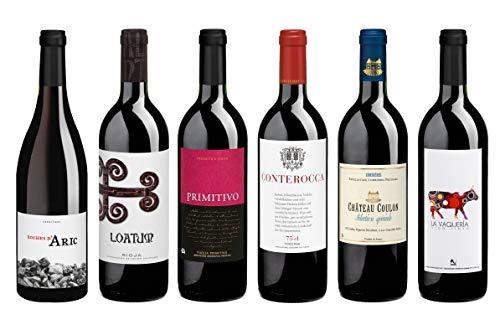 Weinpaket Rotwein aus dem Naturparadies (6 x 0,75l), Biowein-Probierpaket von Delinat