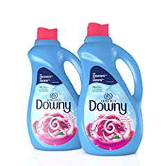 Conditions to help prevent stretching, fading, and fuzz Leaves long-lasting freshness and softens fabrics More concentrated: with 76 loads per bottle (compared to 60 loads in Ultra Downy) Reduces more wrinkles than detergent alone Compatible with HE ...