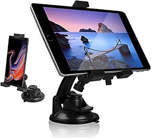 Soporte de tableta de montaje de coche universal, soporte del teléfono del tablero de parabrisas, soporte de la taza de succión de la rotación de 360 ° TPU para iPad Pro Mini Air Cellphone iPhone Sa