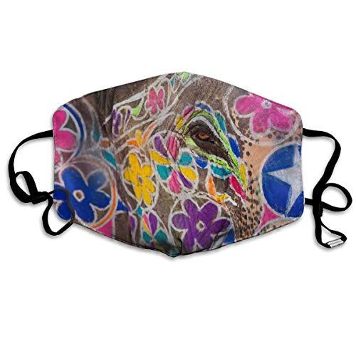 Die Maske Bunt bemalter Elefantenkopf bei Festivaldust-Proof und Anti-Rauch-Maske Süße Modemaske Kalte Maske Anti-Staub-Maske Skimaske Wintermaske Genug Raum zum Atmen Trendy Style Fashion Masken