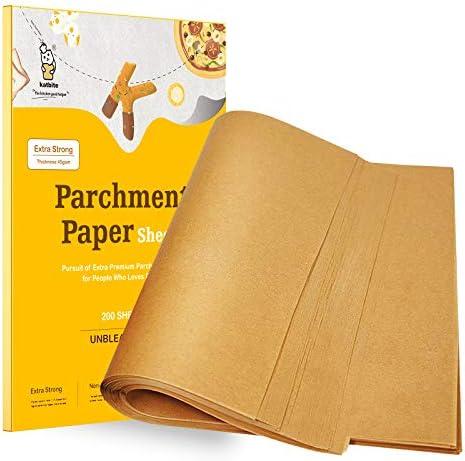 Katbite 200Pcs 9x13 12x16 Inch Heavy Duty Unbleached Parchment Paper Parchment Paper Sheets product image