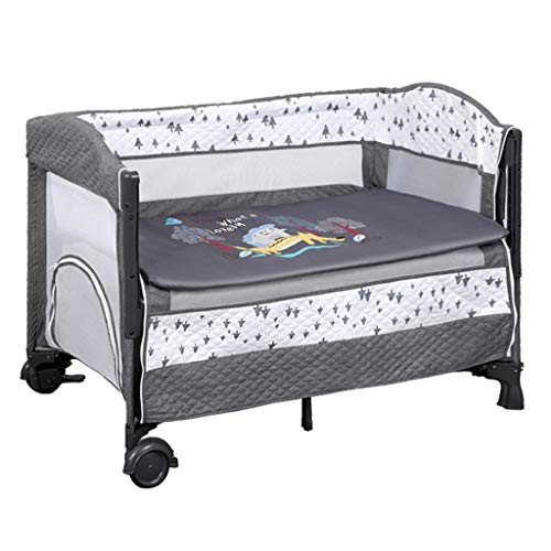 Best Price! Baby cradle Rocking Chair Baby Bassinet, Newborn Bed Bedside Sleeper Baby Bed Cribs Adjustable Height Portable Bed for Infant/Baby Boy/Baby Girl Bed (Color : Gray)