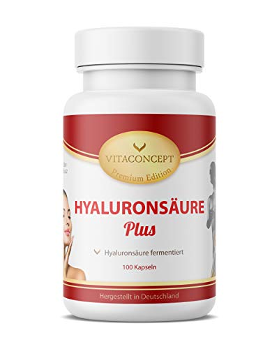 HYALURONSÄURE 150 mg (Tagesdosis) 100 Kapseln - Mikro-Molekular & fermentiert * MADE IN GERMANY * Gelenke - Haut - Anti-Aging - höchste pharmazeutische Qualität von VITACONCEPT
