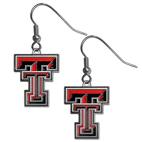 NCAA Siskiyou Sports Texas Tech Red Raiders pendentes brincos tamanho único