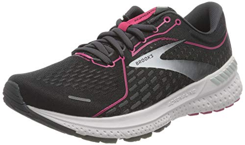 Brooks Women's Adrenaline Gts 21 Running Shoe, Black Raspberrysorbet Ebony, 7 UK (40.5 EU)