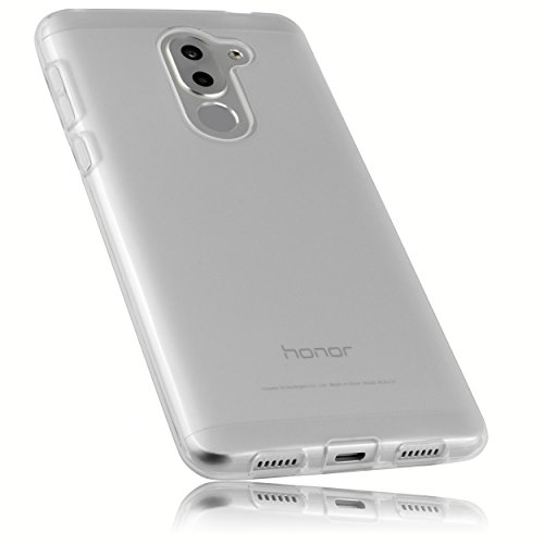 mumbi Funda Compatible con Honor 6X Caja del teléfono móvil, Blanco Transparente