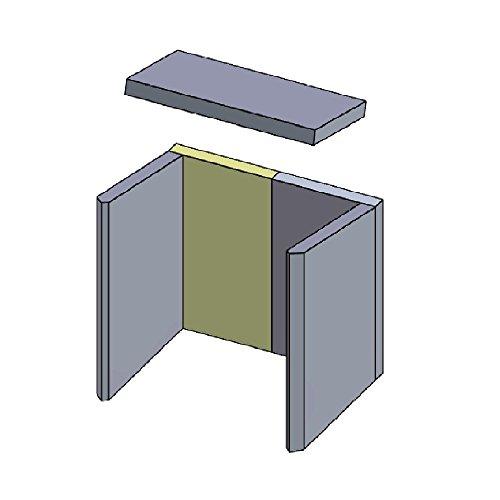 Flamado Feuerraumauskleidung Rückwandstein geeignet für Links/Rechts passend für Hark Kamin...