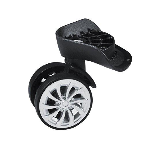 GLOGLOW Koffer Rad Reparatur Ersetzen, Rad Roller Koffer Ersatzteile Swivel Rad Ersatz DIY Links & Rechts Räder Werkzeuge