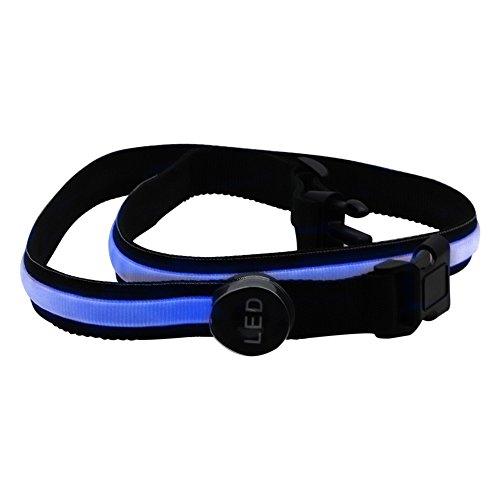 Xingyue Aile Outdoor verlichting & speelparaties 78 cm blauwe LED 1 stuk knipperende band veiligheid reflecterende riem band fiets loop hand accessoires trainingspak