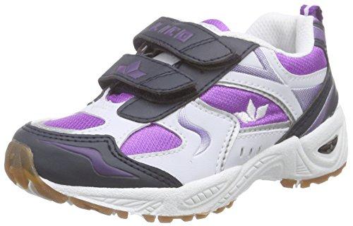 Lico Bob V Mädchen Multisport Indoor Schuhe, Weiß/ Lila/ Marine, 36 EU