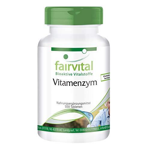 Enzym-Komplex - Vitamenzym - HOCHDOSIERT - 500 Tabletten - mit Pankreatin