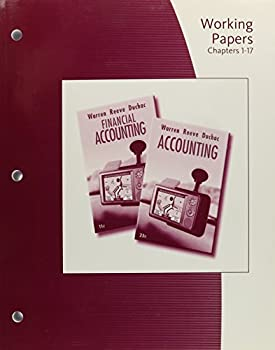 Working Papers, Chapters 1-17: Accounting or Financial Accounting 0324663986 Book Cover