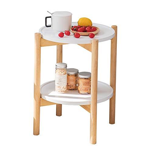 Axdwfd bijzettafel 18 inch breed ronde bank tafel, massief hout bijzettafel, slaapkamer nachtkastje -39 * 39 * 60 cm