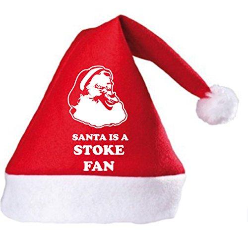 Santa is a Stoke Fan Christmas Hat