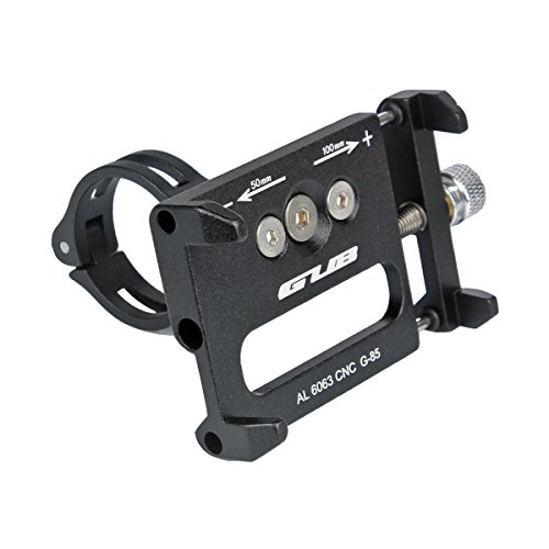 gub G85aluminio para bicicleta de montaña bicicleta de carretera para pantalla plana soporte para teléfono (negro)