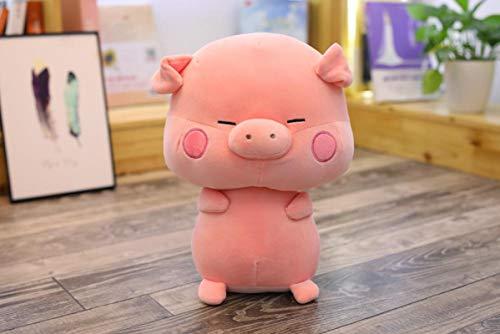 Lindo Cerdo Mullido Perezoso Animal de Peluche Juguetes de Peluche muñeco de Cerdo Relleno Suave Animales encantadores Almohada para niños 33 cm Rosa