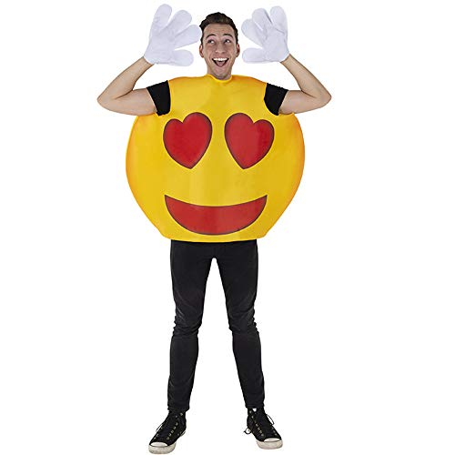 Dress Up America Heart Costume for Adults (A Deluxe-Kochkostüm für Jungen Smiley Herz Emoji Kostüm, Mehrfarbig