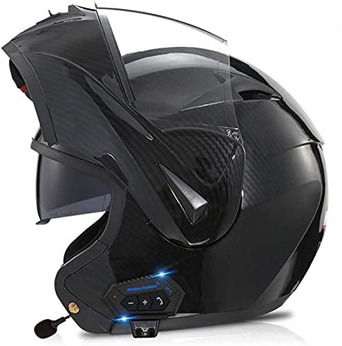 Cascos De Motocicleta Abatibles Modulares Bluetooth Con Doble Visor, Certificación DOT/ECE Cascos De Moto Modulares De Cara Completa Altavoz Incorporado Micrófono 3,L