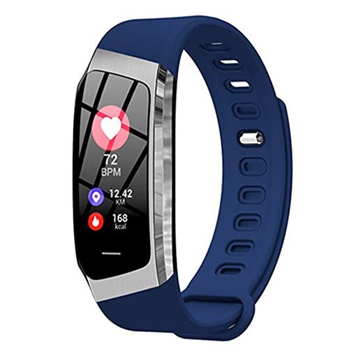 YXJ E18 Pulsera Inteligente IP67 Impermeable Tarifa Cardíaca Monitor De Presión Arterial Deportes Fitness Pulsera Tracker Pedómetro Reloj,G
