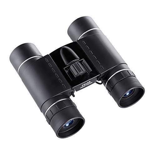 SONGSS verrekijker Compact, 10x25 Compact en licht, Mini vouwverrekijker met volledig gecoate lens reizen wandelen vogel kijken volwassen kinderen