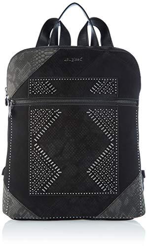 Desigual Accessories PU Backpack Medium, Zaino Donna, Nero, U