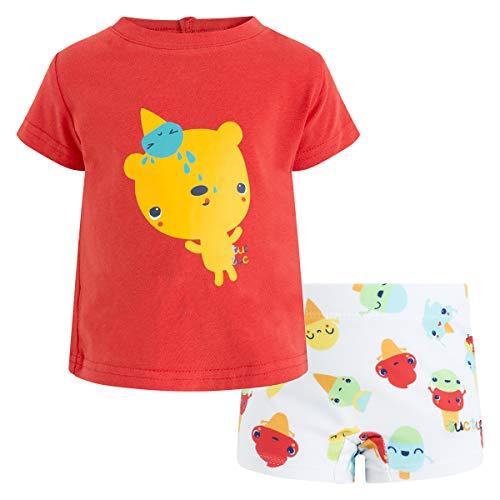 Tuc Tuc BÓxer Licra+Camiseta Punto NiÑo Cute Ice Conjunto de Ropa, Rojo...