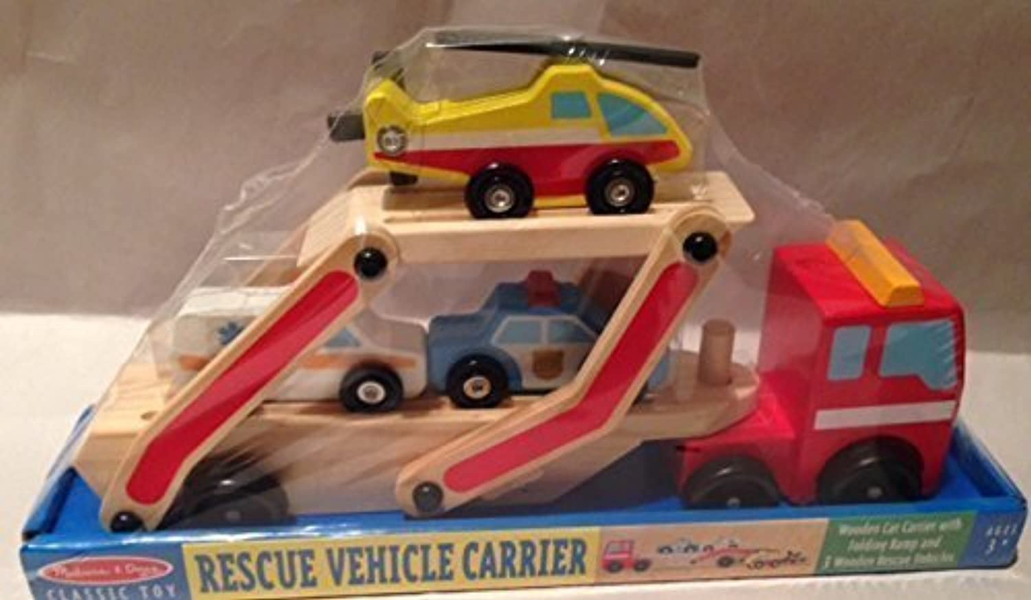 Melissa & Doug Classic Toy Rescue Vehicle Carrier
