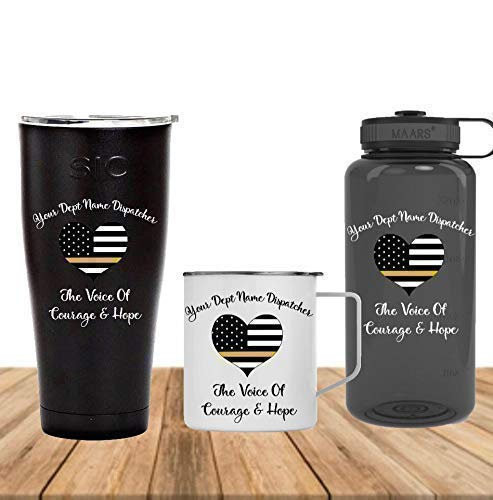 Dispatchers Gold Thin Line 911 Dispatcher Customized Gifts