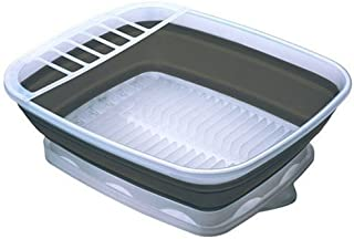 Prepworks by Progressive Collapsible Dish Rack with Drain Board, CDD-100, Perfect For RV Sink, Camping Dish Tub