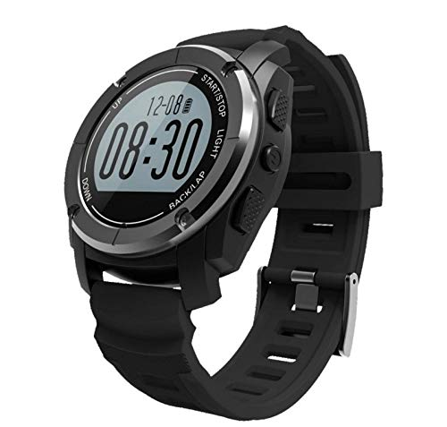 KTH Smart Watch S928 Bluetooth Deportes al Aire Libre Reloj GPS Reloj Deportivo Profesional Bluetooth Reloj Inteligente (Color : Negro)