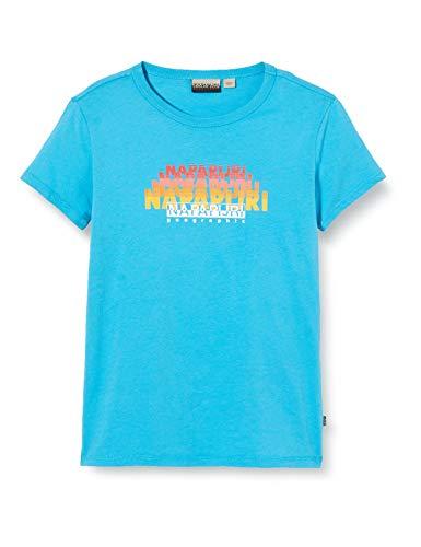 Napapijri Jungen K SYLLO T-Shirt, Türkis (Reef Turquoise I711), 140 (Herstellergröße:10)
