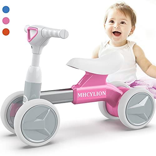 Logeeyar Bicicletta Senza Pedali, Bicicletta Equilibrio per Bambini da 12-36 Mesi, Triciclo Bambini,Prima Bici Senza Pedali, Rosa