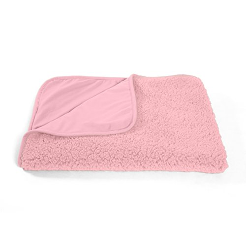 "Best Friends by Sheri Sherpa Pet Throw Blanket / Portable Dog Mat / Cat Mat, 30""x40"", Pink"