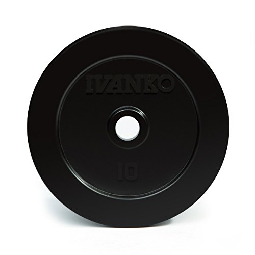 Ivanko Rubber 10 Lb. Plates (RUB-10, Pair) for 1' and 1-1/16' Bars