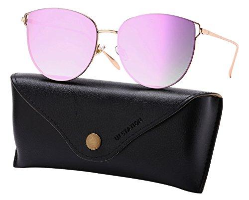 Maude Mirrored Sunglasses Purple