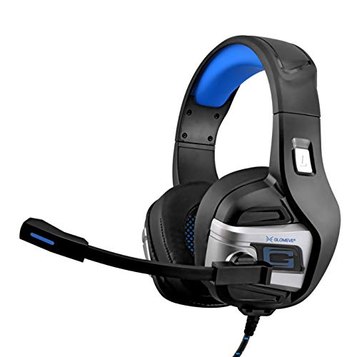 Stereo Wired Noise Cancelling PS4 Xbox one Gaming Headset with Built in Microphone Volume Control Over On Ear Deep Bass Surround Sound Headphone Earphones Best Earbuds PC Tablet Laptop