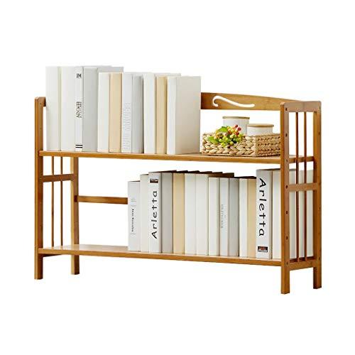 Zunruishop Boekenkast van bamboehout, instelbaar, multifunctioneel, voor thuis of op kantoor